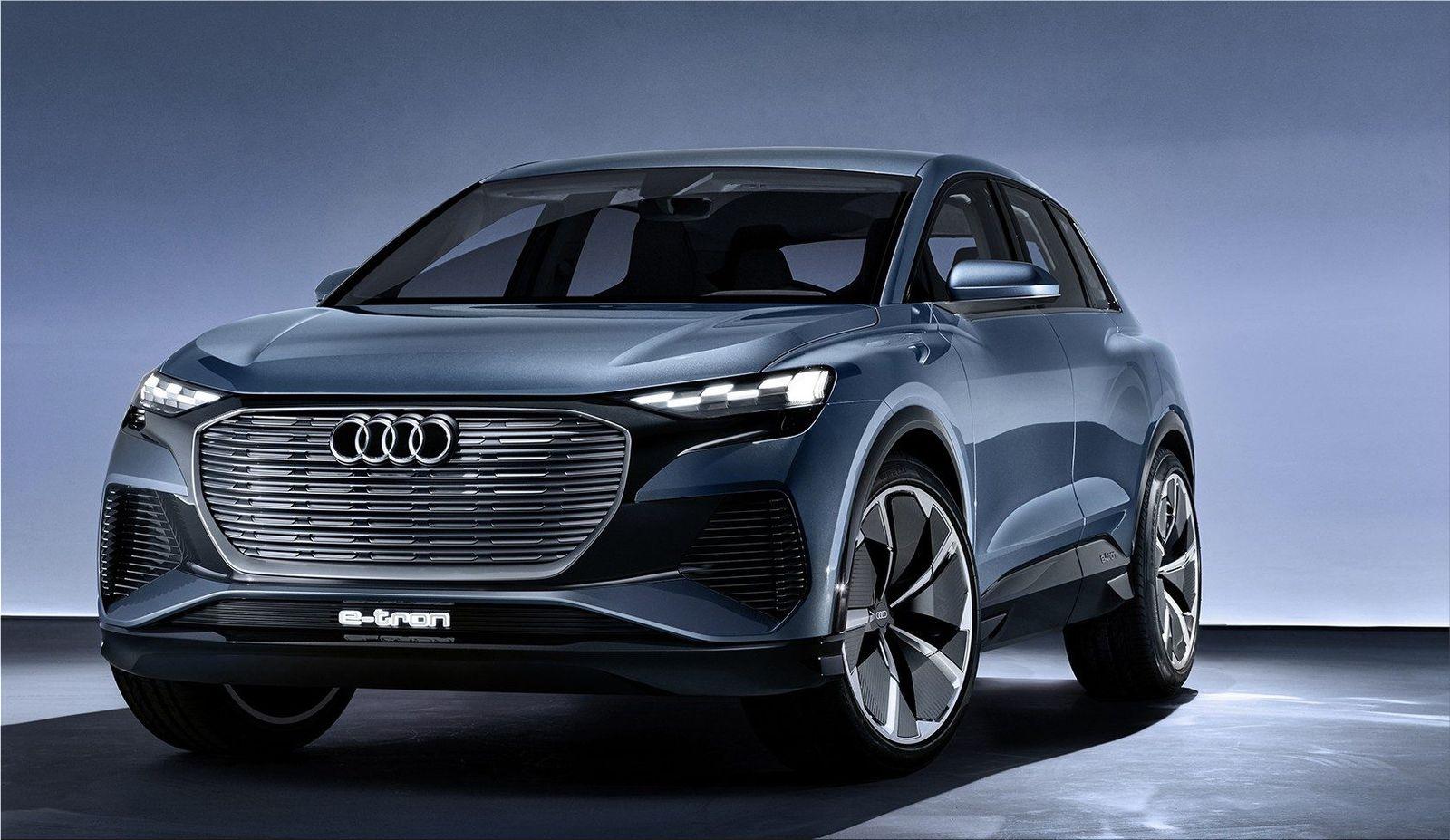 Audi Q4 e-tron electric SUV in Geneva  Electric Cars ...
