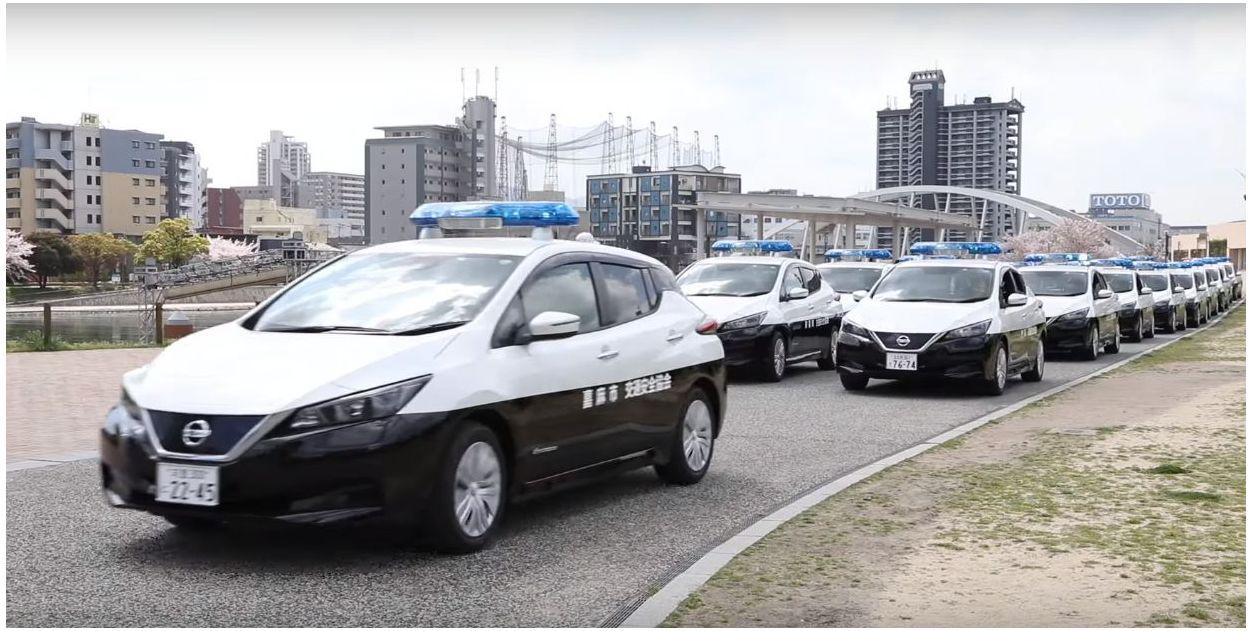 Nissan Leaf Electric Police Car