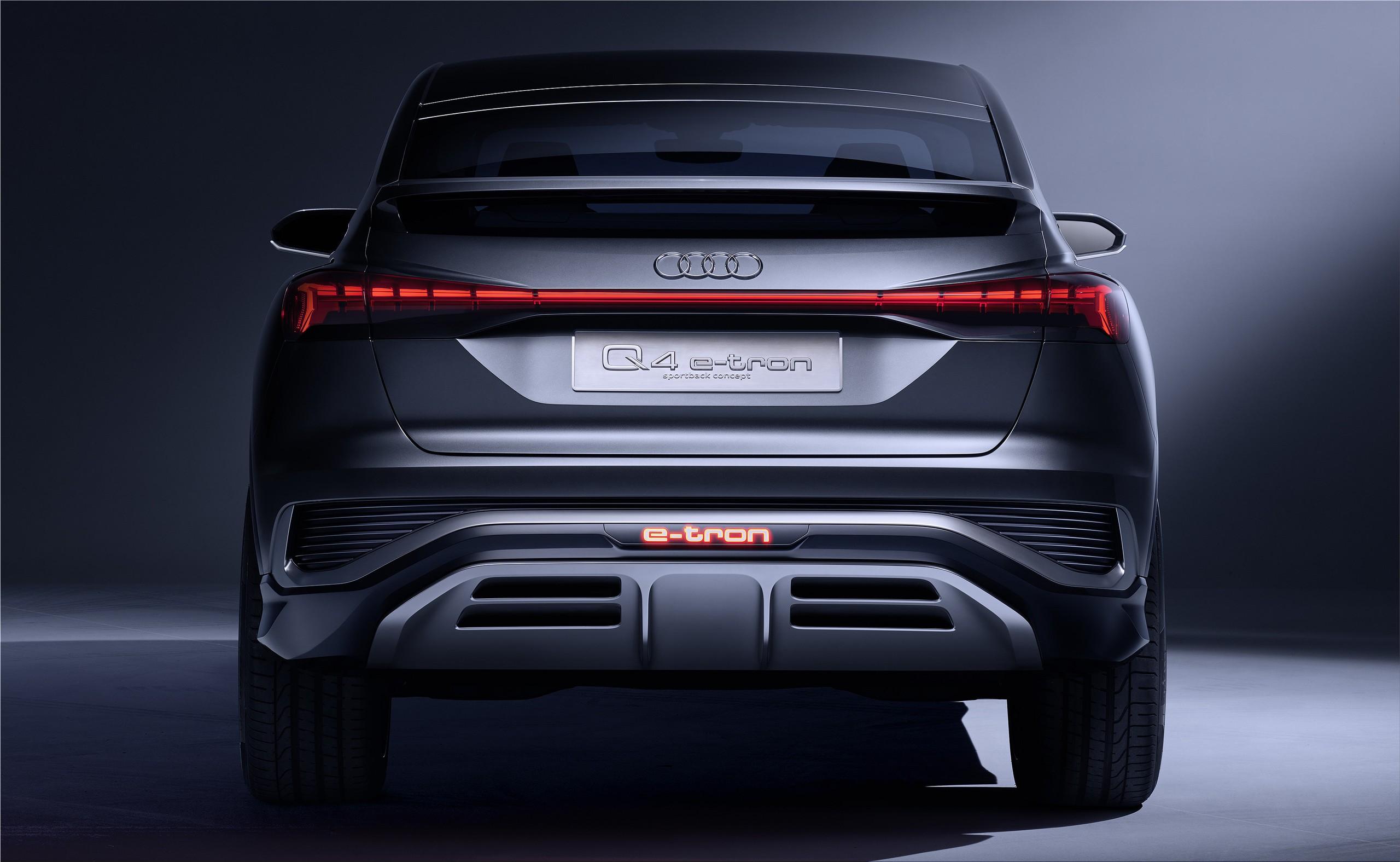 Audi Q4 Sportback E Tron Electric Suv Essential Data Electric Cars Electric Hunter
