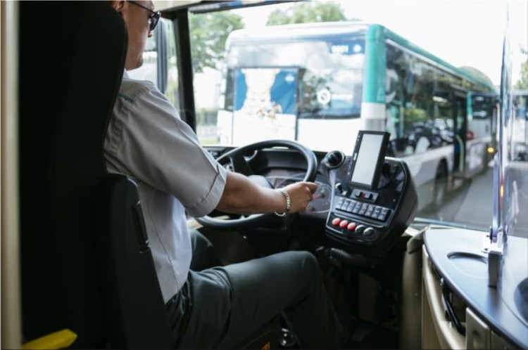 Aptis electric bus interior
