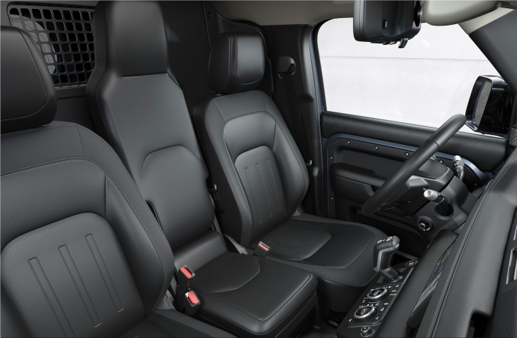 Land Rover Defender P400e interior