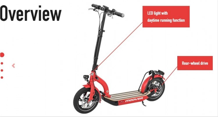 Moover Electric scooter