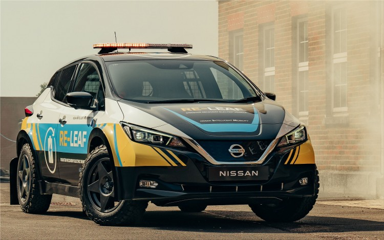 Nissan RE-LEAF disaster recovery electric vehicle