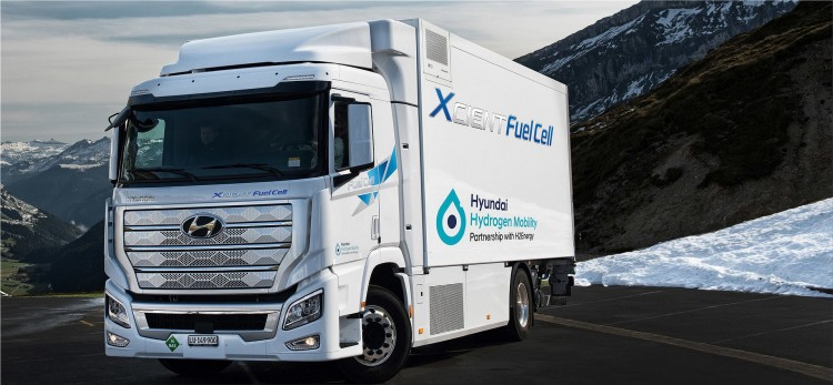 Hyundai Xcient Fuel Cell truck