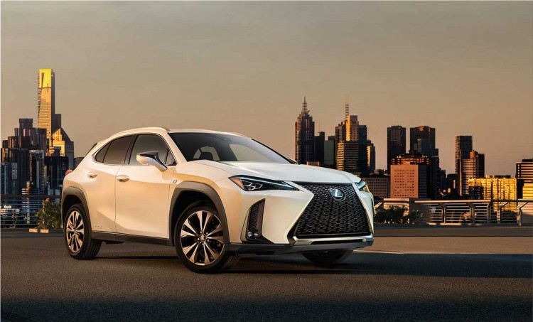 Lexus UX hybrid crossover in images