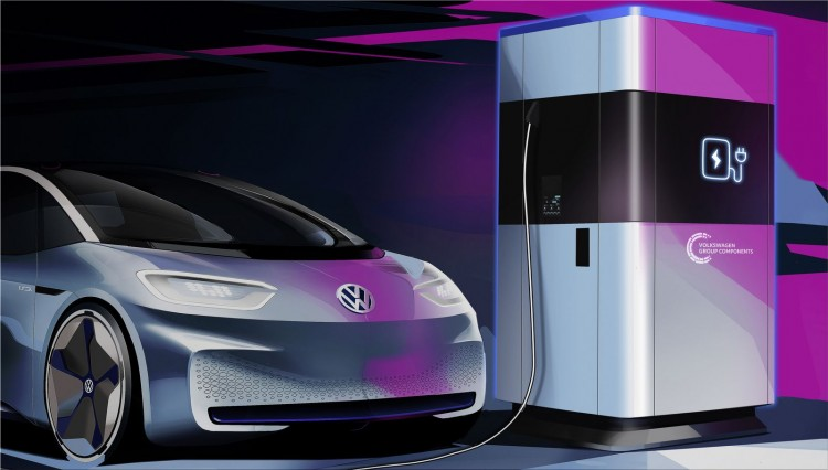 Volkswagen will install 4,000 electric car charging  stations