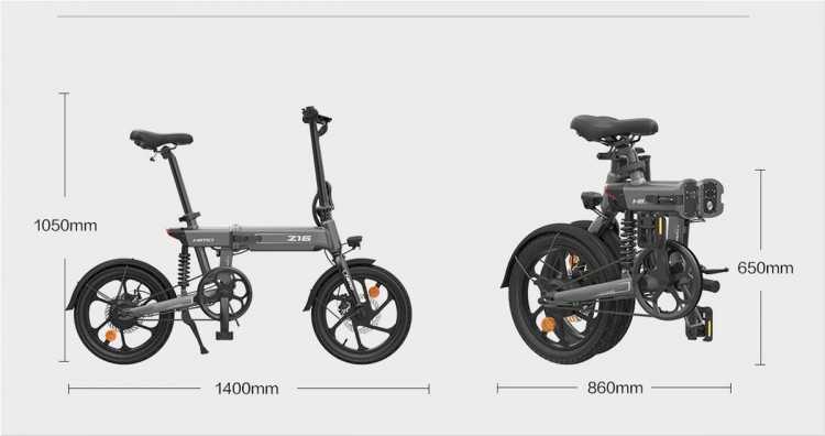 Xiaomi HIMO Z16 - Electric Folding Bike