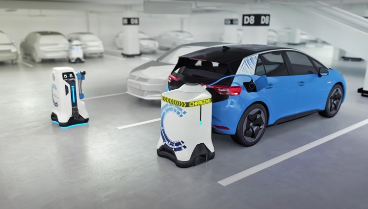 charging robot for electric vehicles