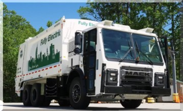 Mack Electric LR 100% electric garbage truck