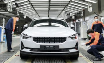 Polestar 2 production began in Luqiao, China