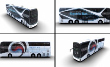 Hyundai Motor's double-decker electric bus with 300 km of autonomy