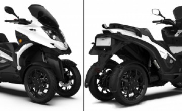Four-wheel eQooder - electric car, motorcycle and scooter